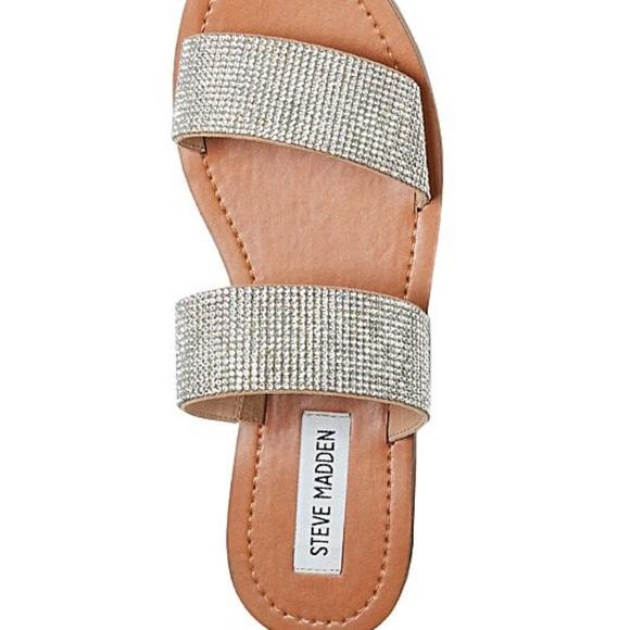 3b2e483099b Steve Madden Rage Embellished Slide Sandal